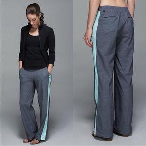 Lululemon City Summer Pant Grey & Aquamarine